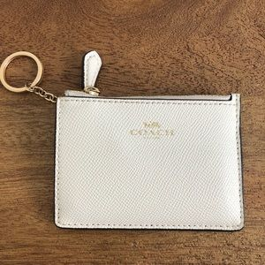 Coach mini wallet with key ring